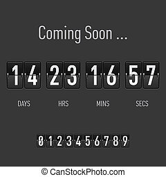 Coming soon countdown - Coming soon text with days and hours...