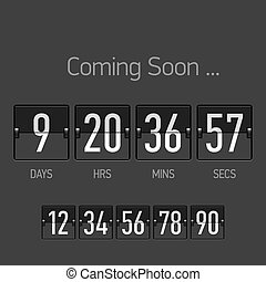 Coming Soon, countdown timer