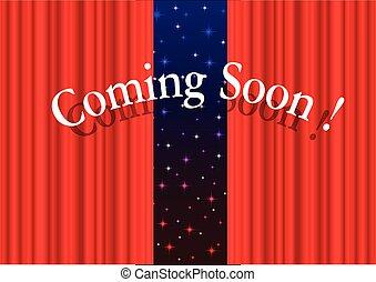 Movie coming soon. Vector clip art royalty