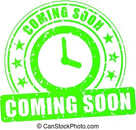 coming soon green stamp