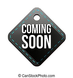 Coming soon hangtag vector
