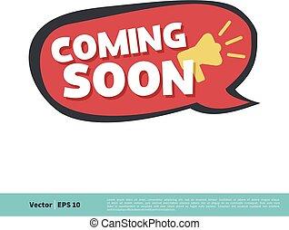 Coming Soon Letter Vector Template Illustration Design. Vector EPS 10.