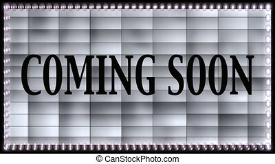 coming soon marquee sign - Stock CGI 1080i Video Footage of...