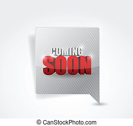 coming soon message bubble illustration design