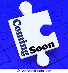Coming Soon Puzzle Shows New Arrival Or Promotion Product