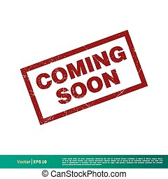 Coming Soon Red Grunge Banner Vector Template Illustration Design. Vector EPS 10.