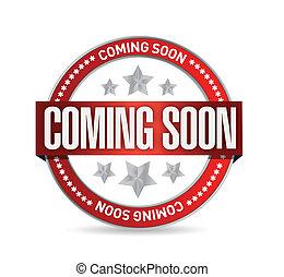 coming soon seal stamp illustration design