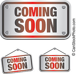 coming soon sign - suitable for user interface or...