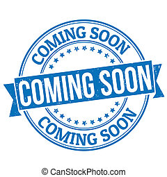 Coming soon grunge rubber stamp on white, vector illustration