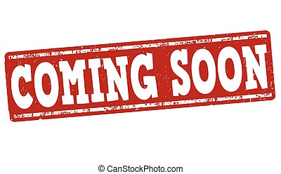 Coming soon stamp