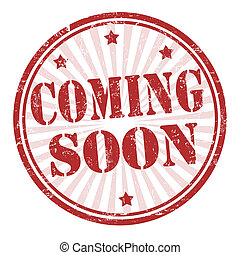 Coming soon stamp - Grunge coming soon rubber stamp, vector...