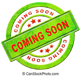 coming soon label new arrival announcement product campain...