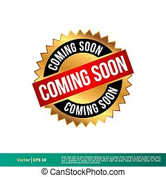 Coming Soon Vector Banner Template Illustration Design. Vector EPS 10.