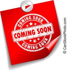 Coming soon vector sticker