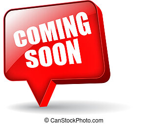 Coming soon vector symbol isolated on white