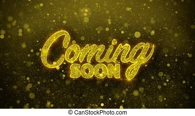 Coming Soon Wishes Greetings card, Invitation, Celebration...