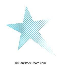 comique, étoile, isolé