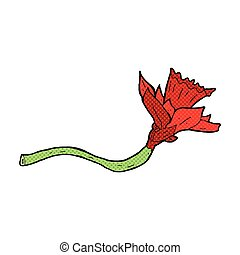 Comique jonquille dessin anim style jonquille livre - Dessin jonquille fleur ...