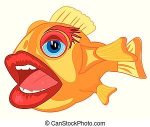 comique, fish, cruche