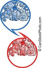 comique, symboles