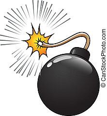 comique, vecteur, bombe