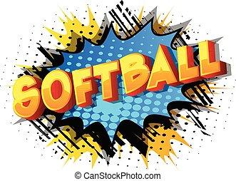 comique, word., -, livre, softball