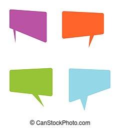 comiques, vecteur, langue, signe