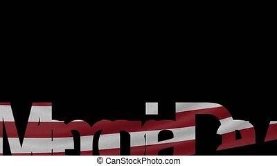 commémoratif, américain, onduler, sous-titre, drapeau,...