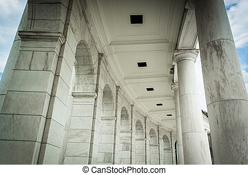 commémoratif,  Arlington, virginie,  Arlington, amphithéâtre,  détails,  architectural