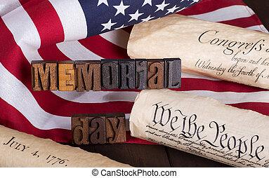 commémoratif, bannière, jour