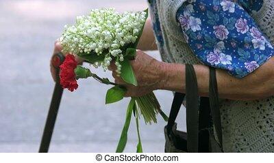 commémoratif, vieux, day., grand-maman, pendant, personne...