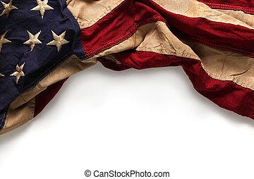 commémoratif, vieux, drapeau, jour, américain, 4ème, fond, ...