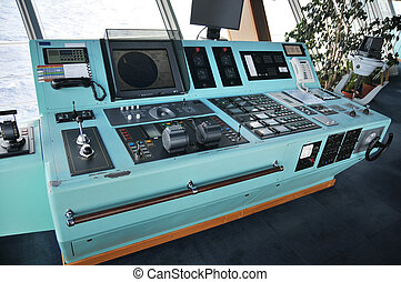 Command center on board a cruise ship
