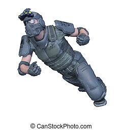 3D CG rendering of a commander.