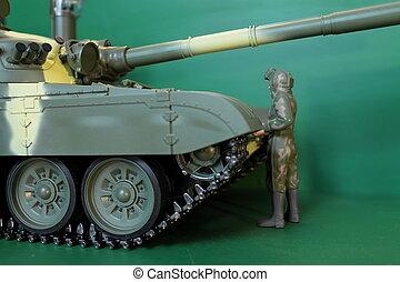 commander  panzer - figure commander  It stands at panzer