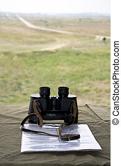 Commander's position and view to the battlefield