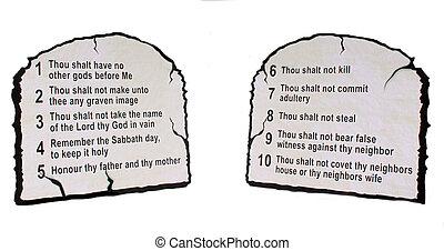 commandment's, dix
