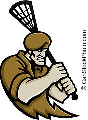 commando-army-officer-lacrosse-MASCOT
