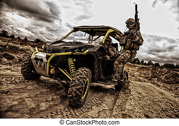 Commandos quick reaction combat group on buggy