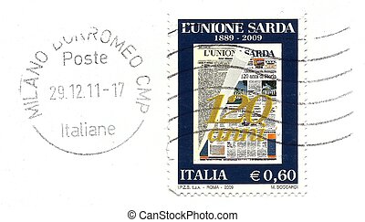 commemorative stamp 120 ? Unione Sarda newspaper