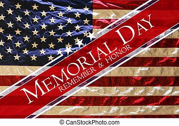 commemorativo, bandiera americana, fondo, giorno
