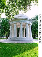 commemorativo, columbia, distretto, washington dc, guerra