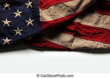 commemorativo, vecchio, bandiera, giorno, americano, 4, fondo, luglio, o