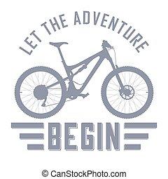 commencer, aventure, laisser