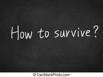 comment, à, survivre