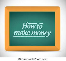 comment, argent, message, faire, écrit