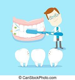 comment, brossez dents