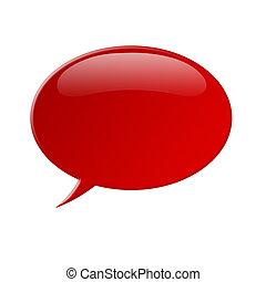 Comment bubble - Illustration of a red comment (talk) bubble