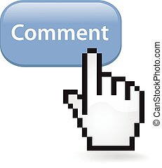 Comment Button - Comment button with a cursor hand.