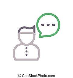 comment  color line icon